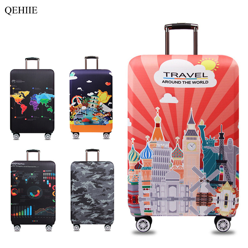 new elastic protective sleeve brand designer fashion suitcase suitcase protective cover organizer Travel Accessories
