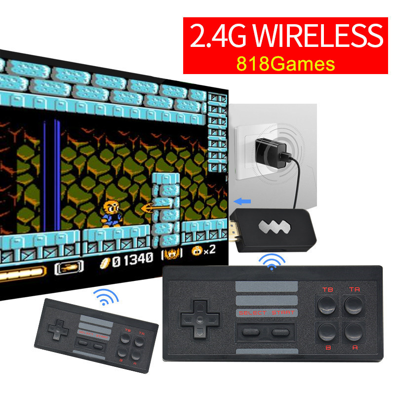 4K HDMI 2.4G Wireless Game Controller Portable Handheld Game Consoles Classic Retro 818 Games Video Game Player Free Shipping