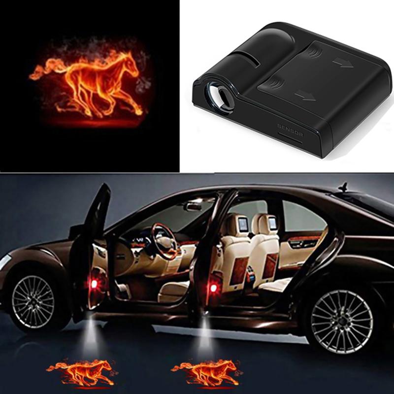 2 Pcs LED Car Ghost Shadow Welcome Lights EasyInstalltion for BMW KENPENRI Car Door Light Logo Projector Lighting