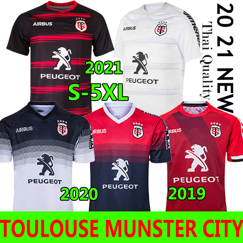 3XL 4XL 5XL Toulouse Munster city Rugby Jerseys 2021 New Home Away 2020 STADE TOULOUSAIN 2019 League jersey Lentulus Shirts Leisure sports