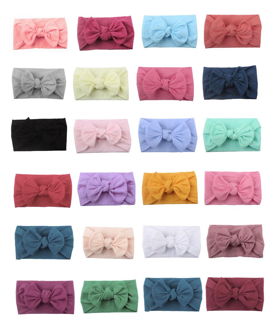 Knotted hair bows pink bow hair bow tie dye skinny nylon headband hair clip trendy