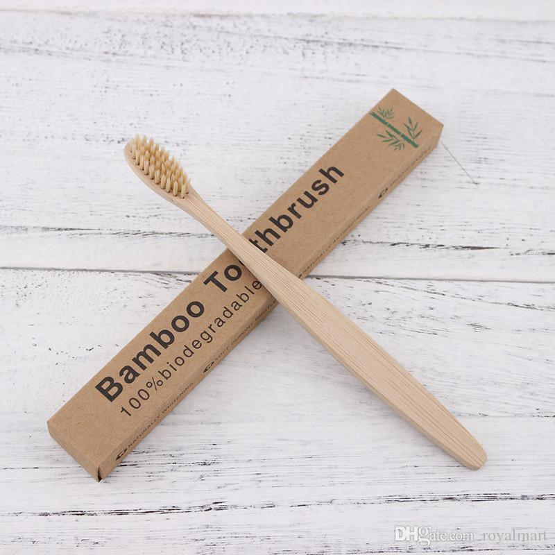 Wooden Toothbrush Environmental Protection Natural Bamboo Toothbrush Oral Care Soft Bristle For Home or hotel With Box