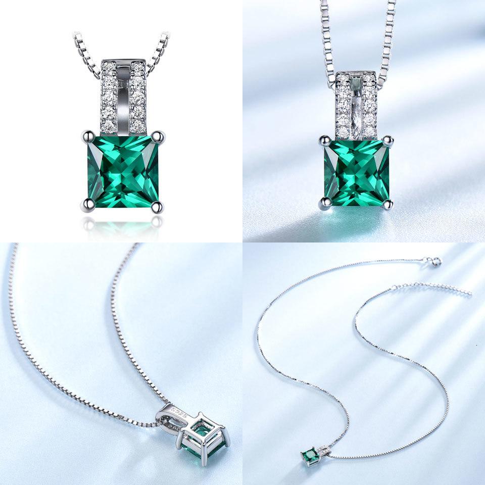 UMCHO Sky blue topaz sterling silver necklace pendant for women NUJ025B-1 PC (9)