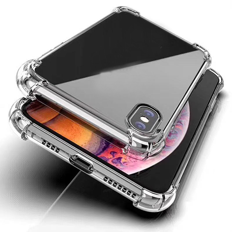 1.5mm Clear Shockproof TPU Transparent Cellphone Cover Case for iphone 12 pro max 11 Samsung S20 FE NOTE 20 Ultra