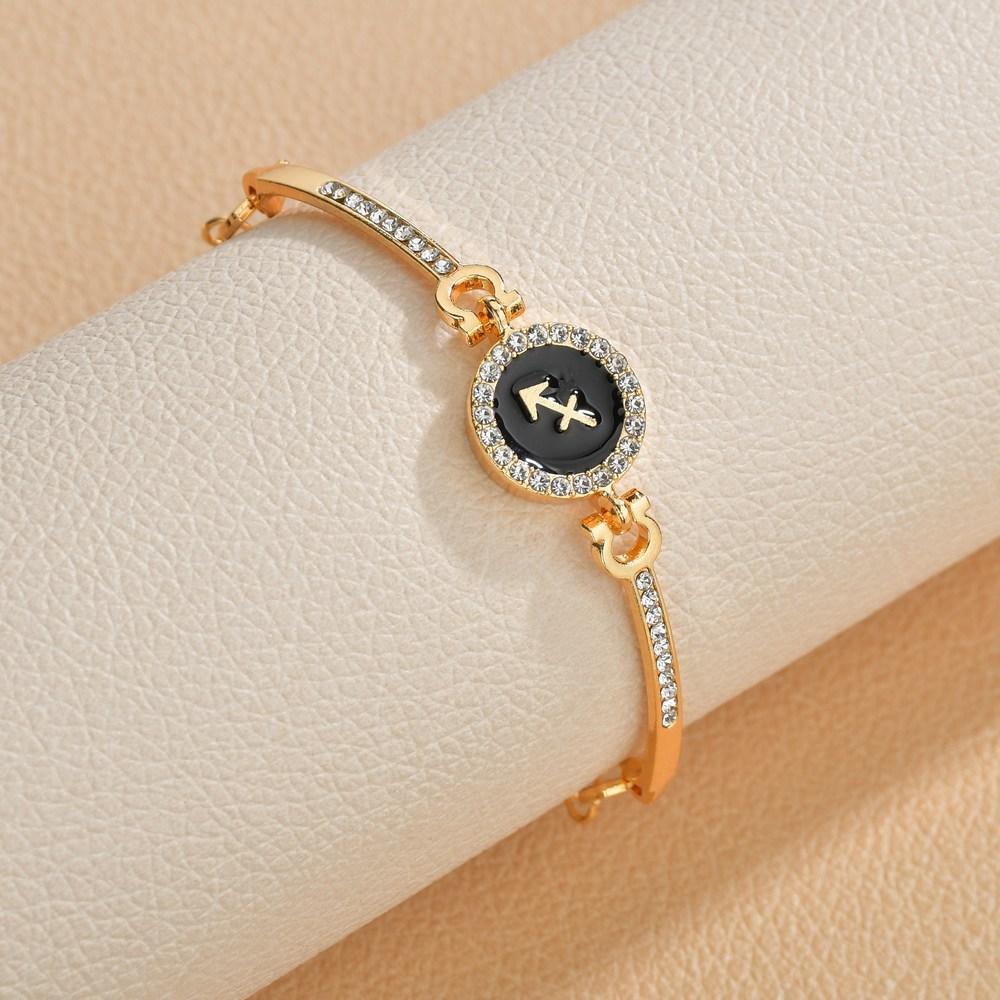 Birth Jewelry Constellations 12 Zodiac Signs Charm Bracelets for Women Men Birthday Gift Cubic Zircon Zodiac Bracelet Chain