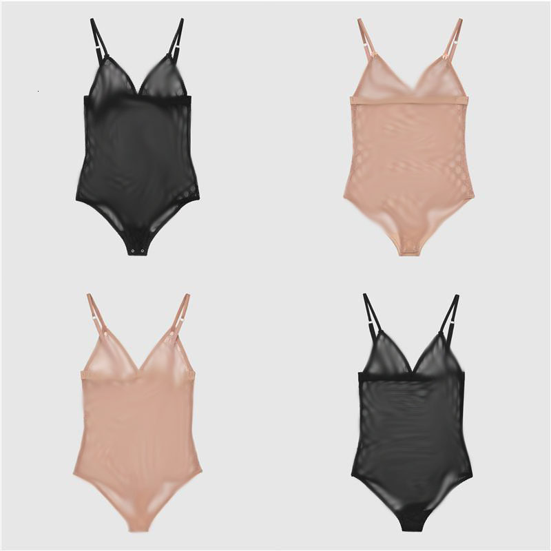 Luxury Embroidery Underwear Sexy Brand Lace Nightwear Women Soft Thin Lingerie Letters Designer Bodysuit High Quality Siamese Wholesale