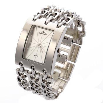 G&D Women Wristwatches Quartz Watch Ladies Bracelet Watch Dress Relogio Feminino Saat Gifts Top Brand Luxury Reloj Mujer Silver