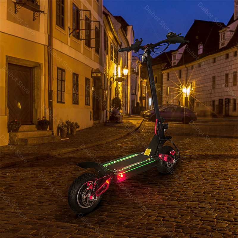 Folding Electric Scooter Adults 2 Wheels Electric Scooters Ecorider E4-9 With Crystal Light 3600W 70KMH Powerful Electric Bike (9)