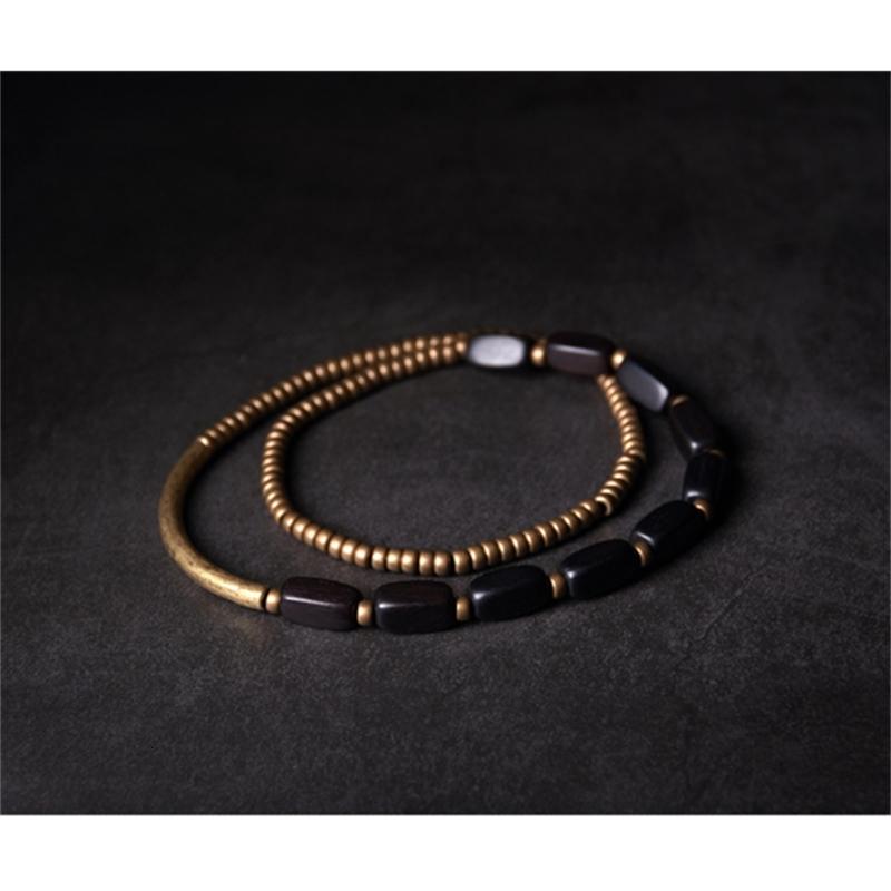 Multi-Layer-Handcrafted-Brass-Tube-Ebony-Strip-Beads-Bracelet-Black-Wood-Wristbands-For-Men-Women-Metal-Necklace-Wrist-Ornament (9)