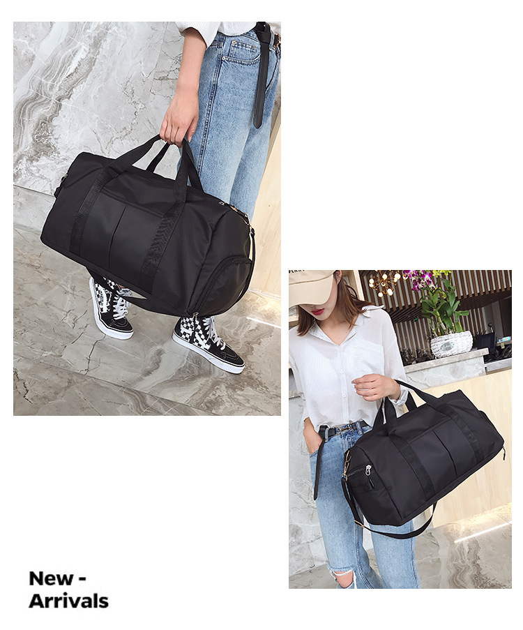 Storage Training Adjustable Strap Dry Wet Separated Waterproof Women Outdoor Fitness Travel Handbag Nylon Sports Yoga Gym Bag (28)