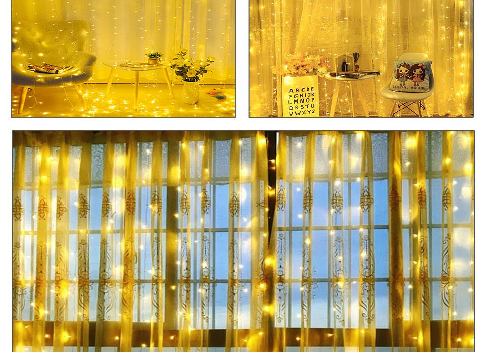 4.5M led wedding fairy string light christmas lights AC 110V 220V Star Led Curtain String halloween Light Decor For Home Party (13)