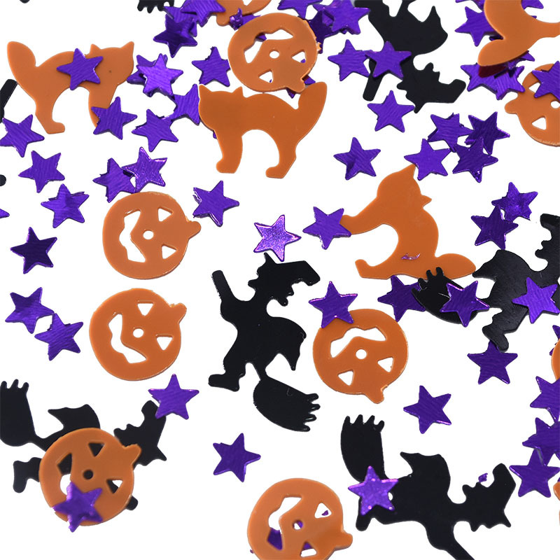 15g/pack New Halloween Confetti Witch Specter Spider Skull Head Star Confetti Table Sprinkles Supplies DIY Halloween Party Decor