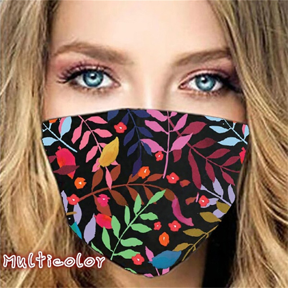 Fashion Floral face mask for Women Men Dustproof Anti-dust Anti-smog Breathable Washable Outdoor Sports Cycling Designer Face Masks Unisex