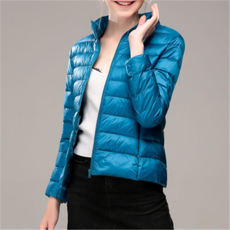 Slim Lightweight Hooded Jacket Designer Female Long Sleeve Short Down Jackets Ladies Solid Color Down Jacket Spring Fashion Thick Warm