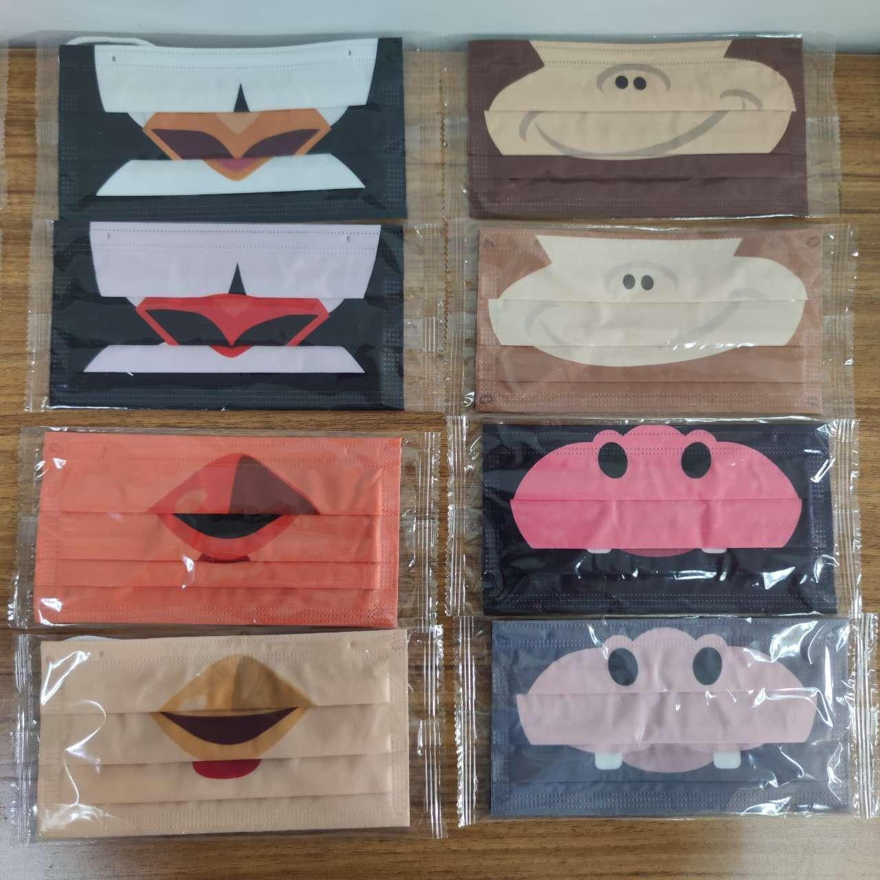 Fashion Designer Reusable Disposable Face Masks Adult Customize Earloop Breathable Cute Cartoon Anti Dust Face Masks Individual Pack