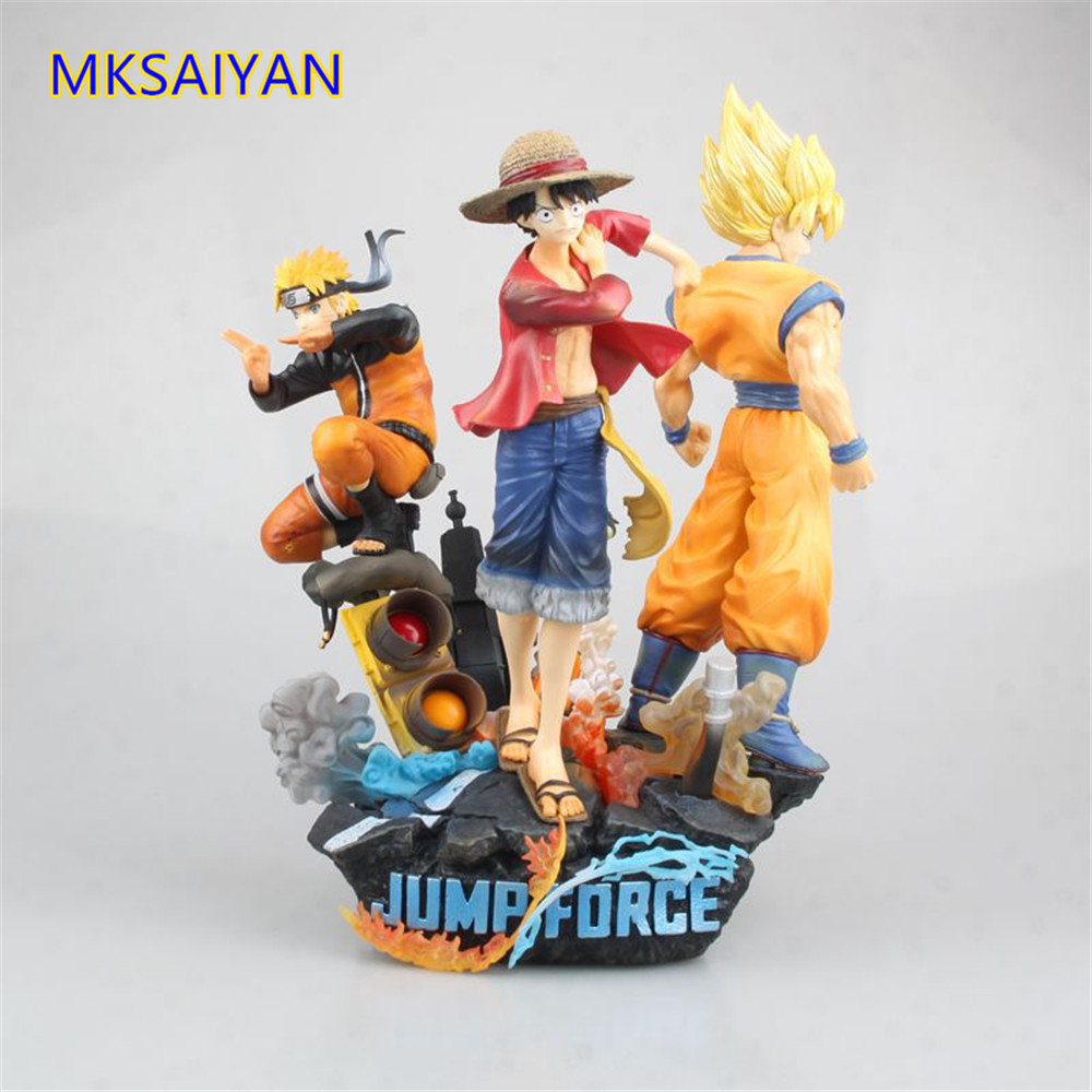 Anime One Piece Jump Force Naruto Dragon Ball Z Game Goku Luffy Naruto Action Figure Toys PVC Statue Collectible Brinquedos Doll