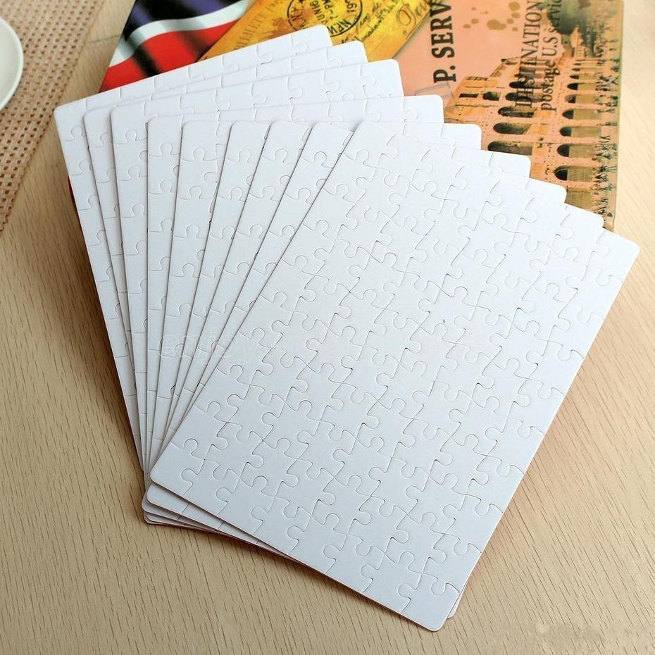 Sublimation Puzzle A4 Size DIY Sublimation Blank Puzzles White Puzzle Jigsaw 80pcs Heat Printing Transfer Handmade Gift