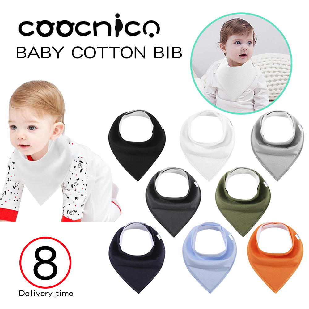 Underleaf Baby Simple Cotton bib and Drool bib Toddler Scarf bib Triangle bib Saliva Cloth for Young Girls
