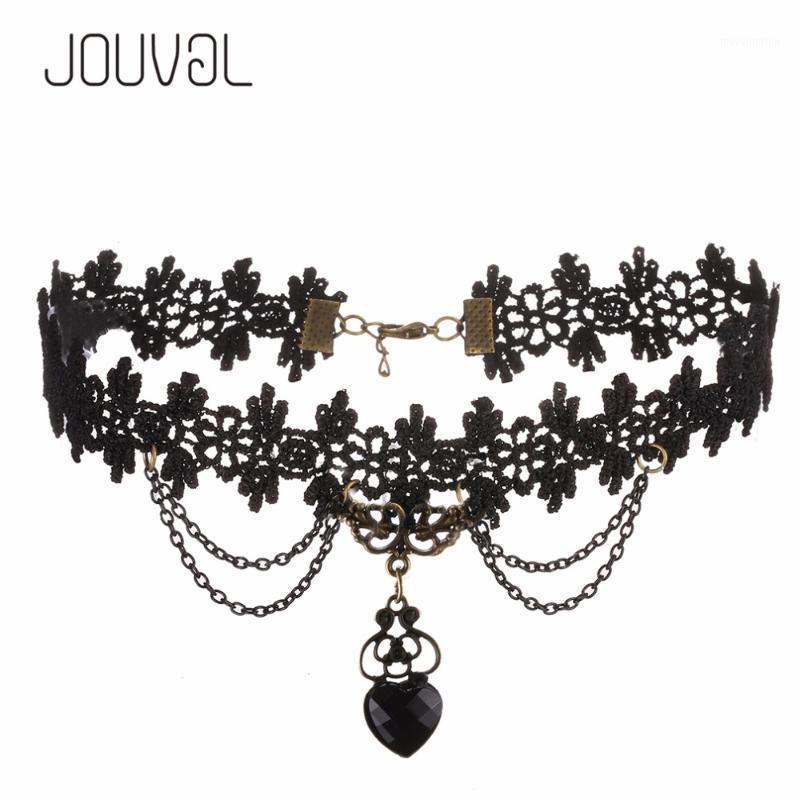 Connecting Black Heart Choker Lolita Gothic Goth Punk Jewelry Open Design