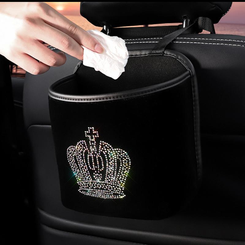 Diamond-Crown-Car-Storage-Bag-Hanging-Rhinestone-Auto-Organizer-Pocket-Barrier-of-Backseat-Holder-4
