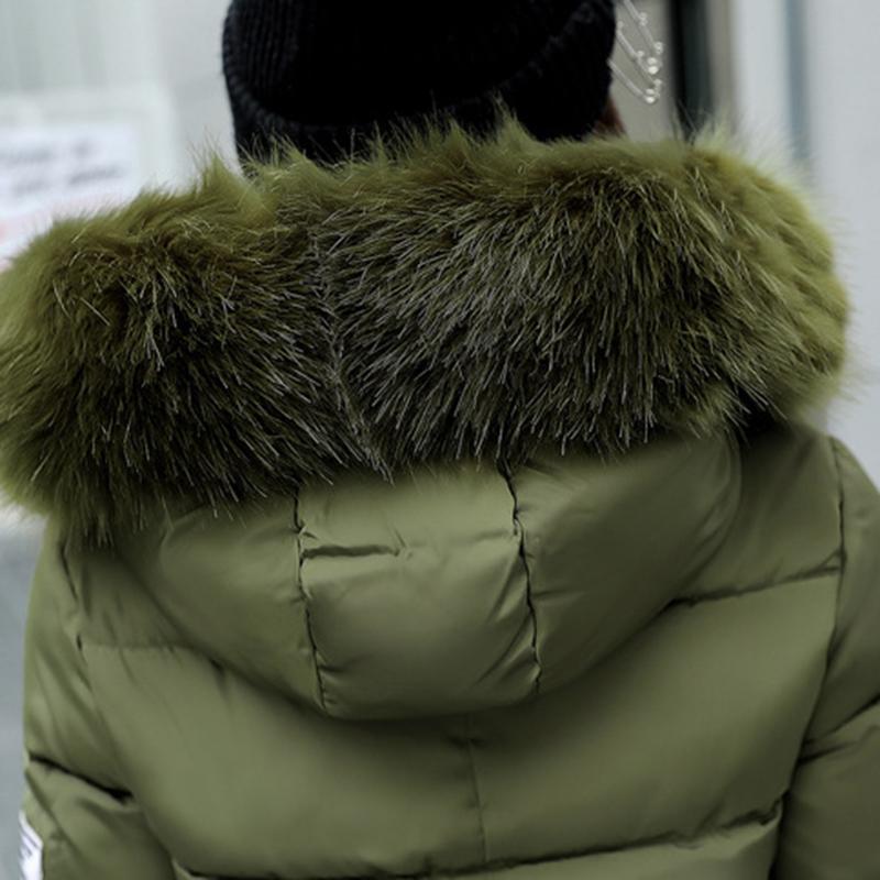 STAINLIZARD Winter jacket women warm casual hooded long parkas women coat streetwear cotton white female jacket coat outwear new (17)