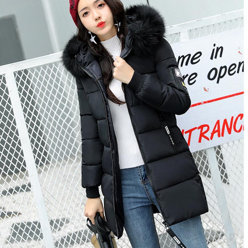 STAINLIZARD Winter jacket women warm casual hooded long parkas women coat streetwear cotton white female jacket coat outwear new (25)