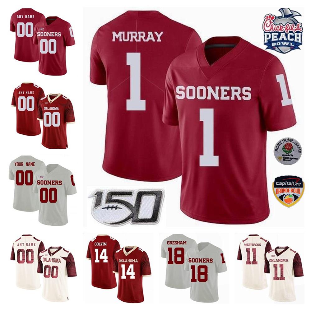 NCAA College Oklahoma Sooners Football 7 Spencer Rattler Jersey 1 Seth McGowan 5 TJ Pledger 17 Marvin Mims Charleston Rambo Men Youth Woman Jerseys