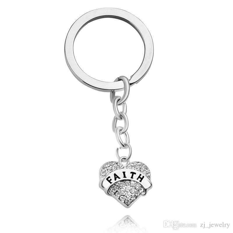 Heart KeyChain crystal key Ring key Chains For Sister/Mom/Grandma/Nana/Daughter/Sister /aunt family member jewelry chrismas gift hot sell