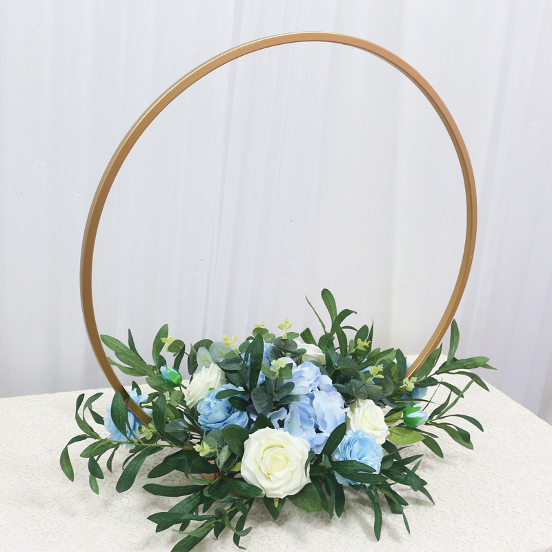 JAROWN New Wedding Party Table Centerpiece Flower Stand Artificial Flowers Home Round Backdrop Frame Shelf Decoration Accessories (5)