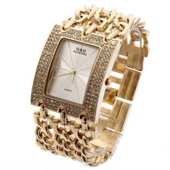 G&D Women Wristwatches Quartz Watch Luxury Gold Watch Relogio Feminino Saat Dress Watch Relojes Mujer Ladies Gifts Casual Jelly