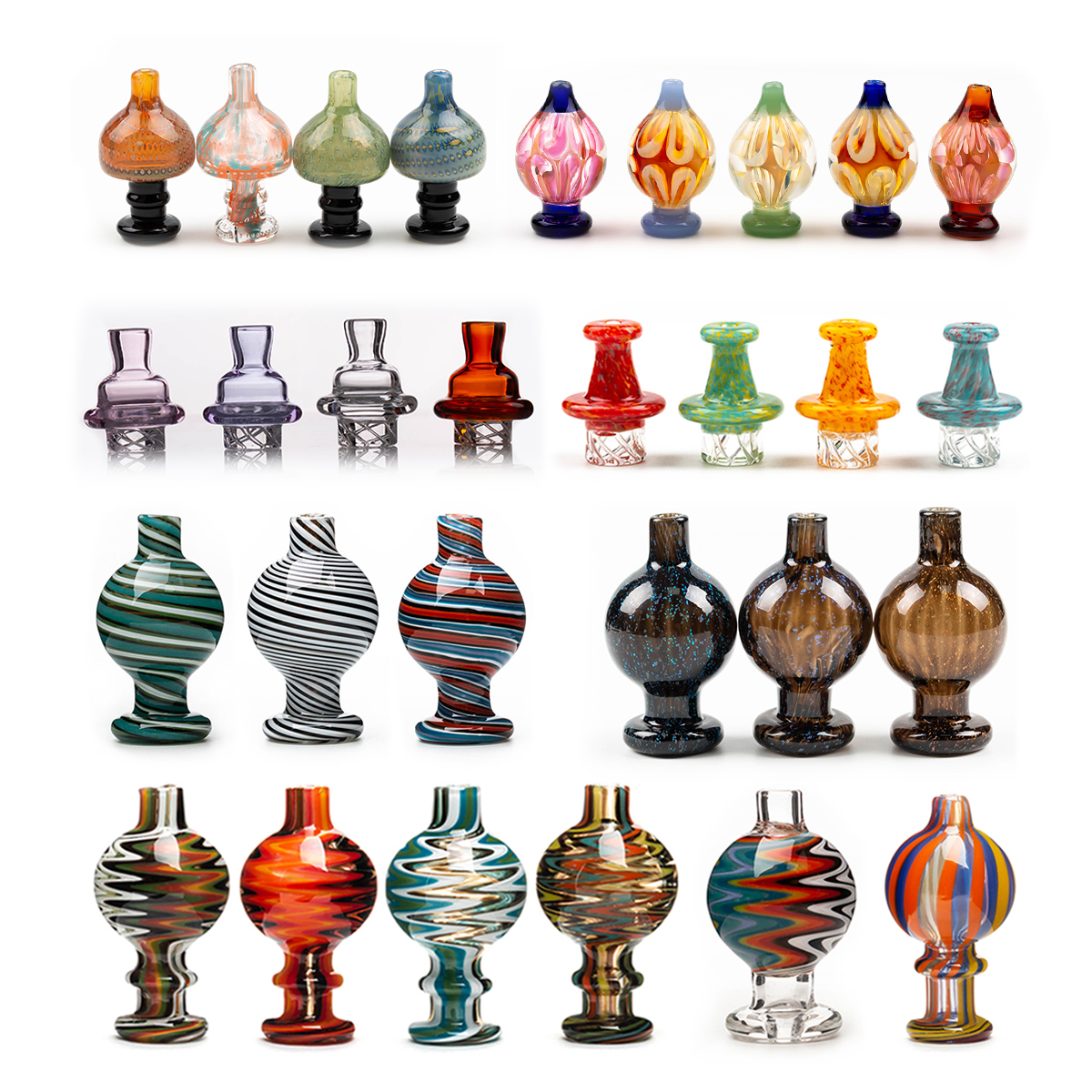 Smoking Accessories Cyclone carb cap Dome with spinning air hole Caps for Terp Pearl Quartz Banger Nail Bubbler Enai Dab Rig