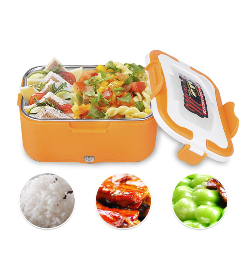 Car heating lunch box Multifunctional stainless steel insulated lunch box car electric lunch box18