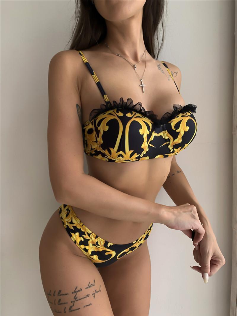 Bikini Fashion Swimwear Set For Women Girl Swimsuit with Pad Bandage two-Piece High Quality Sexy Bathing Suit