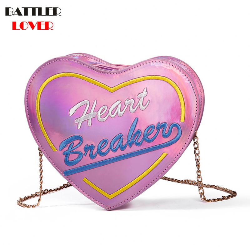Heart Shape Womens Bags Handbags Crossbody Bags Girls Shoulder Messenger Bag Mujer femme Handbag for Women