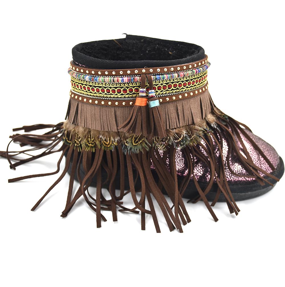 Barefoot Sandals Boho anklet Hippie style Anklet bracelets Gypsy Barefoot tornozeleira pulseras tobilleras leather tassel Anklet