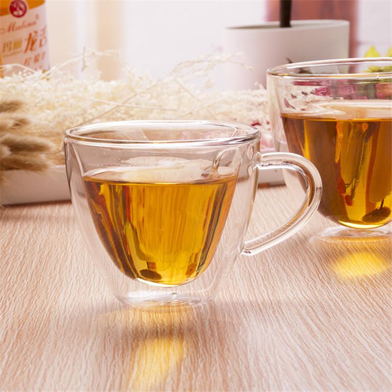 Heart Love Shaped Double Wall Glass Cup Resistant Kungfu Tea Cup Milk Lemon Juice Cup Drinkware Lover Coffee Cups Mug Gift1