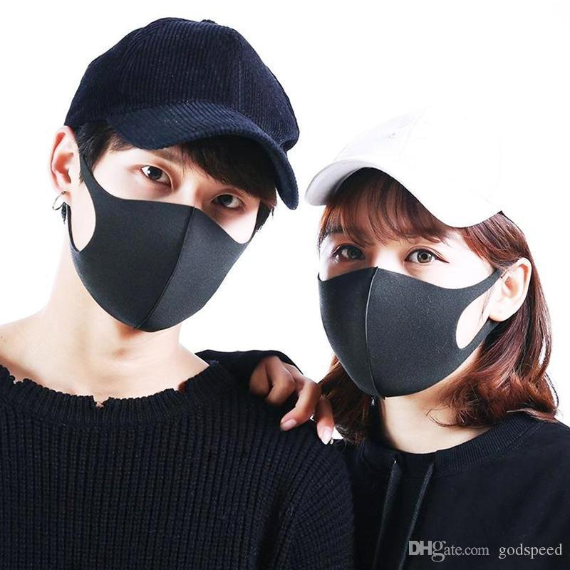 In Stock! Anti Dust Face Mouth Cover Mask Respirator Dustproof Anti-bacterial Washable Reusable Ice Silk Cotton Masks Adult Child