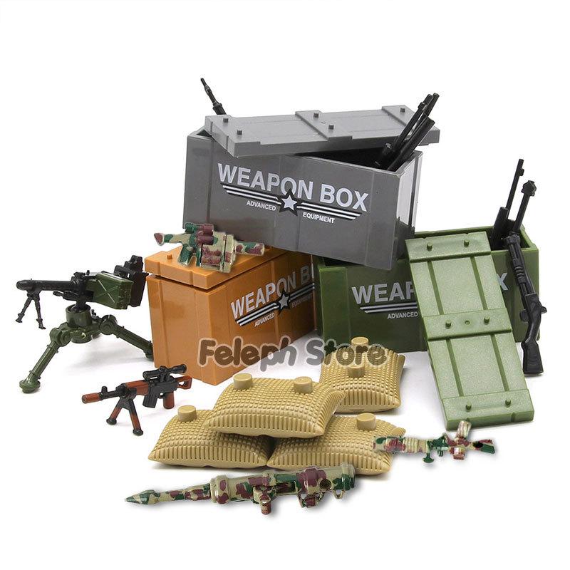 153Pcs Sandbag Laptop Armor Camouflag Building Blocks Model Bricks Military Army SWAT Weapon Team Set MOC Accessories DIY Toy (4)