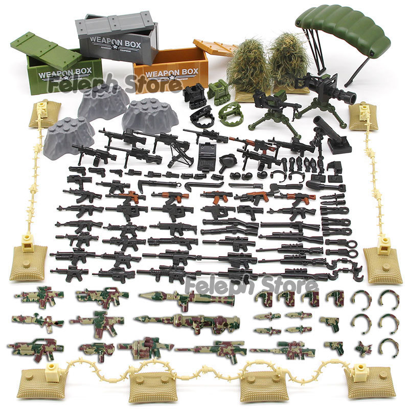 153Pcs-Sandbag-Laptop-Armor-Camouflag-Building-Blocks-Model-Bricks-Military-Army-SWAT-Weapon-Team-Set-MOC-Accessories-DIY-Toy-(6)