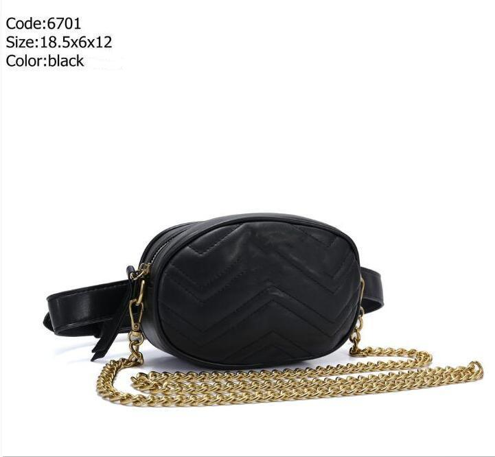 High quality Pu Leather Brand Handbags Women Bags Designer Fanny Packs Famous Waist Bags Handbag Lady Belt Chest bag