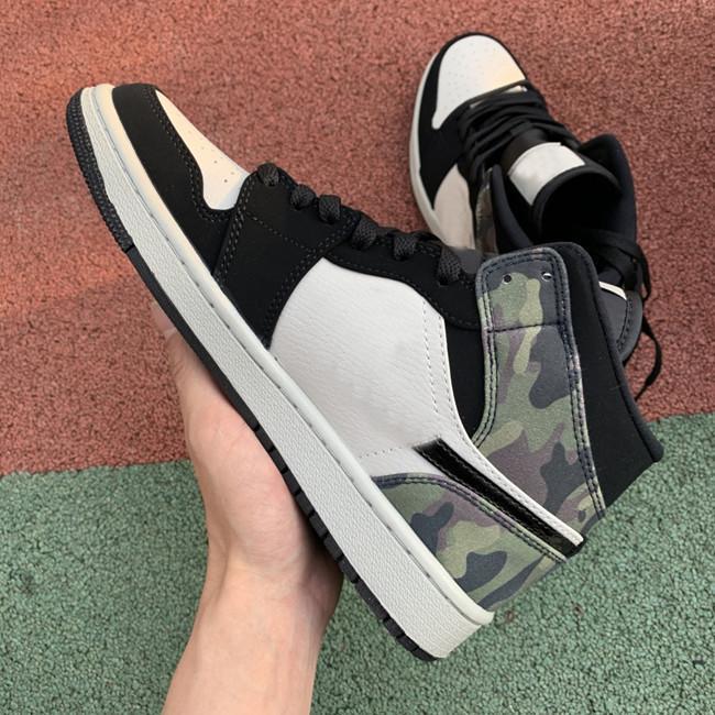 Jumpman 1 Mid Camo LIGHT BONE BLACK High Top Shoes man women sneakers comfortable sneaker schoenen