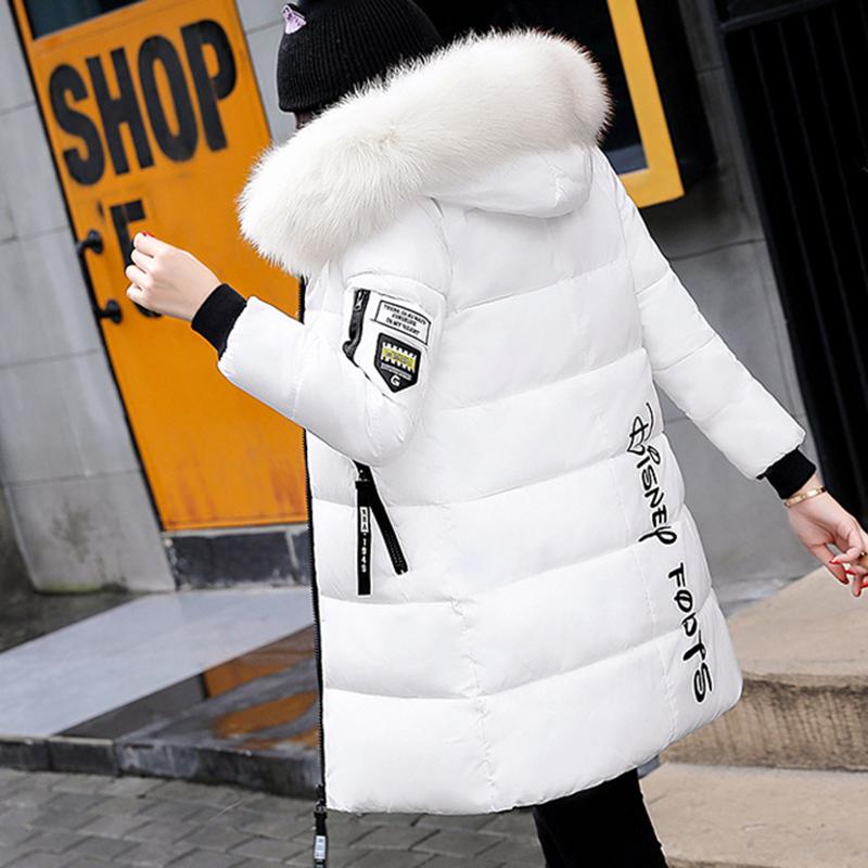 STAINLIZARD Winter jacket women warm casual hooded long parkas women coat streetwear cotton white female jacket coat outwear new (37)