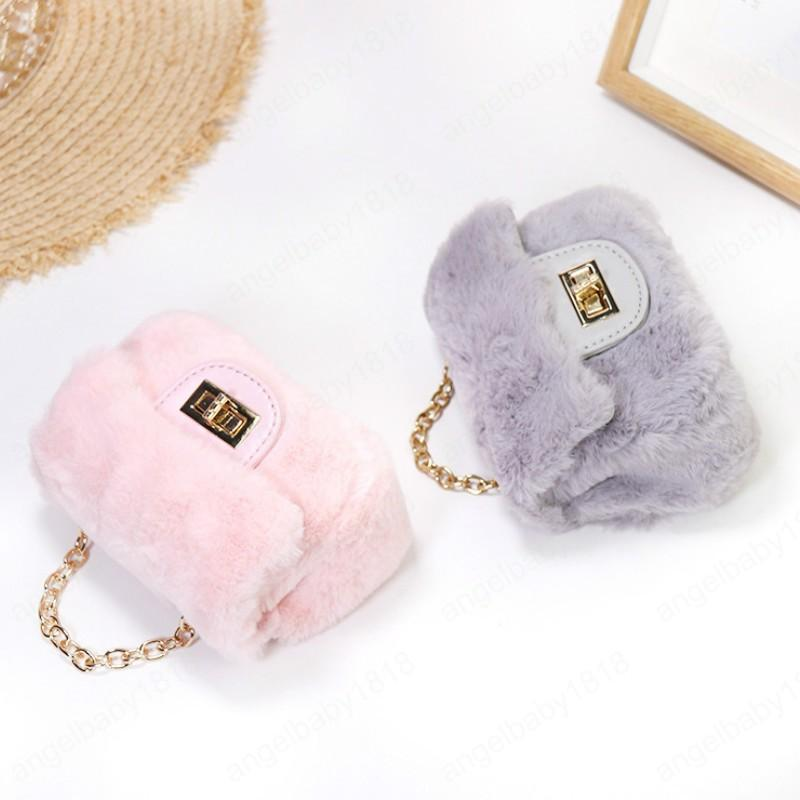 Faux Fur Crossbody Bags for Women 2020 Autumn Winter Girls Small Coin Wallet Pouch Kids Plush Party Purse Girl Purses Gift