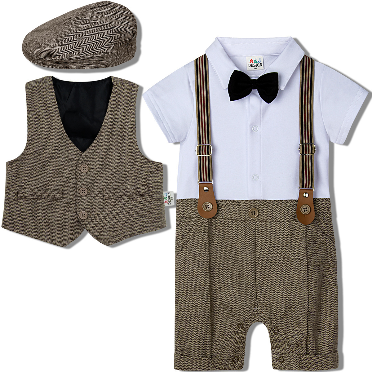 Baby Boy White Christening Wedding Baptism Smart Outfit Suit Formal WHOLESALE
