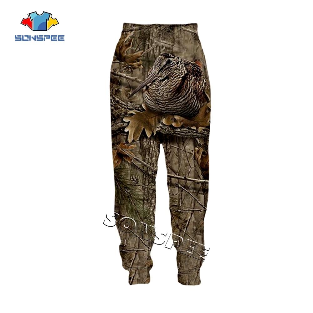 SONSPEE Animal Hunting Hunter 3D Print Harajuku Men Sweatpants Novelty Streetwear Women Fashion Casual Trousers Unisex Long Pant (4)