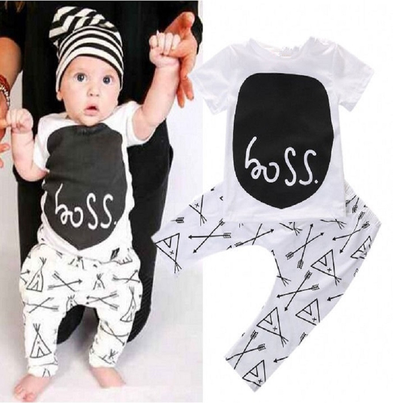 New style summer baby boy clothing set casual t-shirt + pants cotton baby clothes suit children sets kids clothing bebe