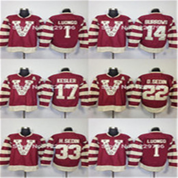 2016 New, Wholesale Price/2014 Heritage Vancouver Canucks Alexandre Burrows Hockey Jerseys #14 Millionaires Claret 100th Anniversary Re
