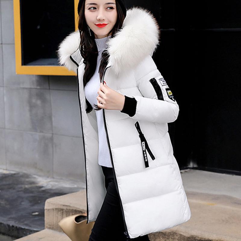STAINLIZARD Winter jacket women warm casual hooded long parkas women coat streetwear cotton white female jacket coat outwear new (18)
