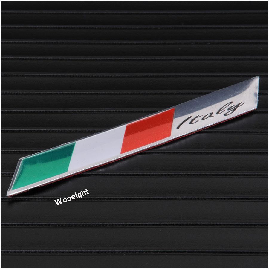 1Pc 3D Aluminum Italy Emblem Badge Flag Car Stickers Fender Trunk Decoration For Audi BMW VW Alfa Romeo FIAT Honda Benz (6)