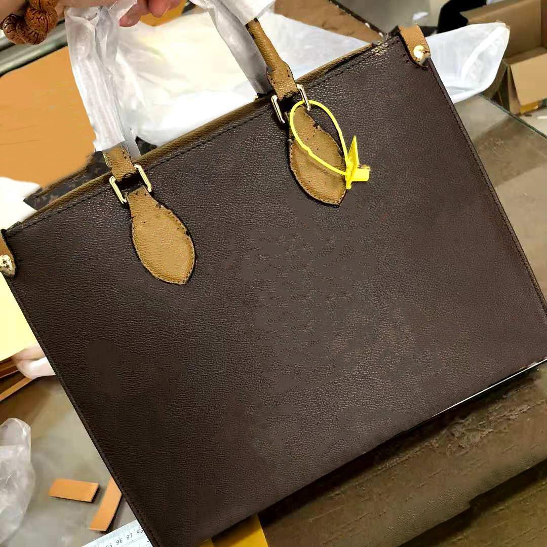 High Quality MIRROR IMAGE Handbags Women tote bags luxurys designers bags fashion bag ONTHEGO gm mm bag multi pochette large shopping bags